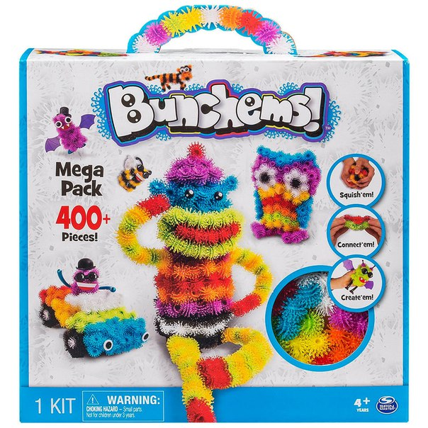 Конструктор Bunchems Mega Pack 400+