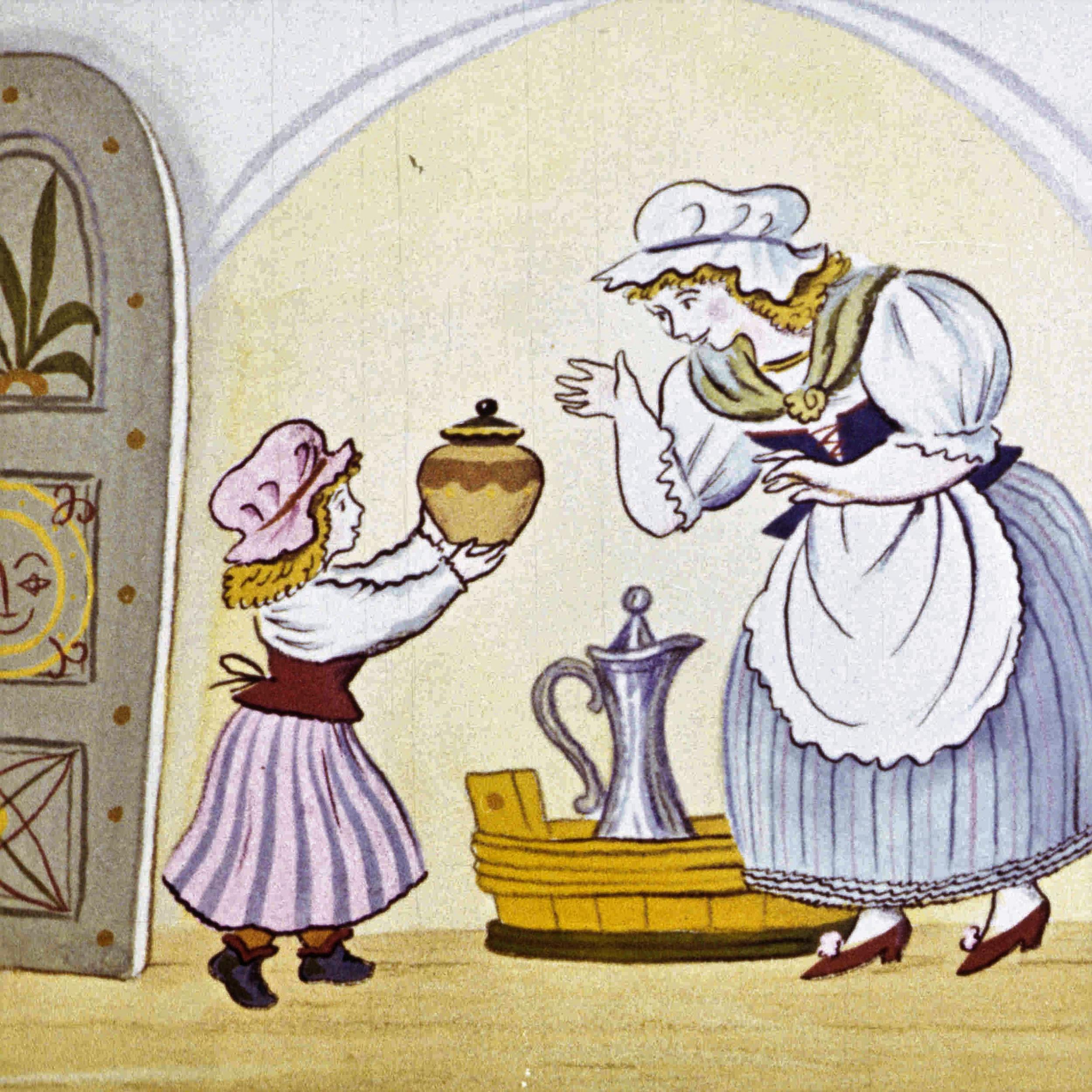 Картинка к сказке горшок каши