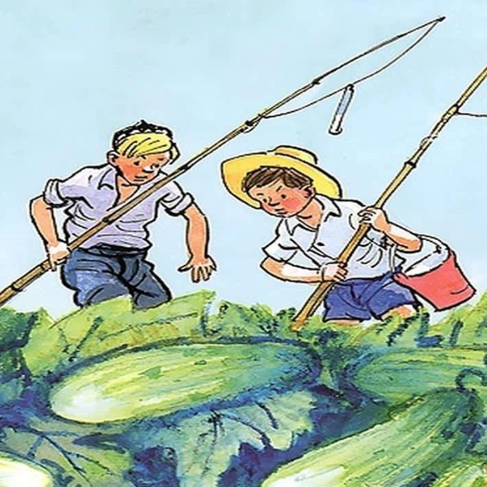 носов огородники рисунок карандашом